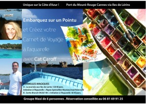 flyer stage aquarelle pointu